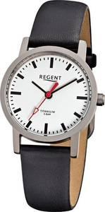 REGENT Armbanduhr silbergrau / schwarz