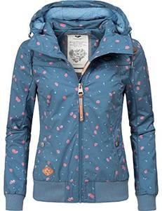 Ragwear Damen Übergangsjacke Regenjacke Jotty Berries Blau Gr. M