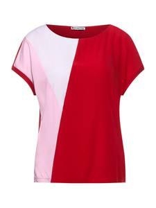 STREET ONE T-Shirt rot / hellpink / weiß