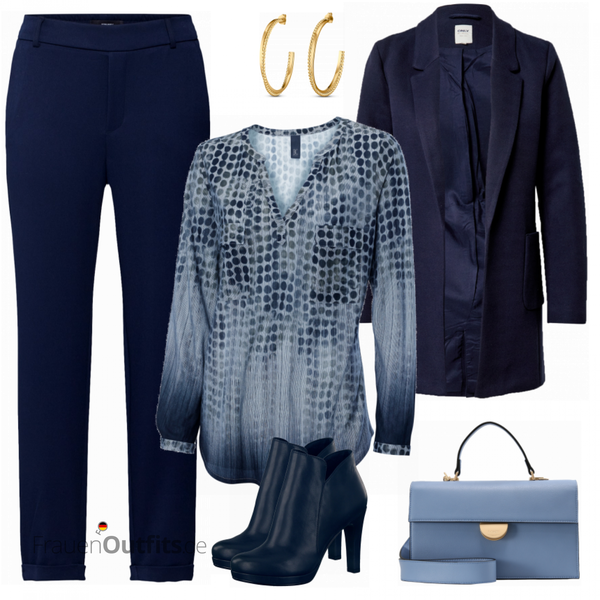 Blauer Businesslook FrauenOutfits.de
