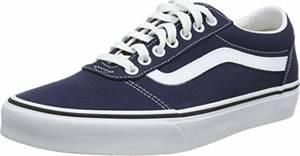 Vans Herren Ward Sneakers, Blau (Canvas) Dress Blues/White Jy3, 43 EU