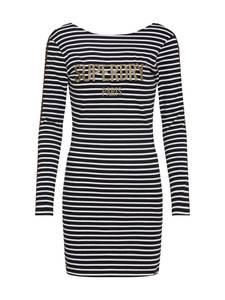 Superdry Mini-Kleid schwarz / weiß