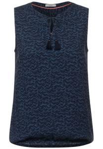 CECIL Damen Blusentop mit Print in Blau