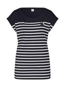 Iriedaily Shirt schwarz / weiß / mokka