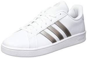 adidas Damen Grand Court Base Sneaker, Weiß Metallic, 38 2/3 EU