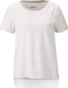 Shirt mit Webeinsatz