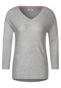 CECIL Damen Pullover mit V-Ausschnitt in Grau