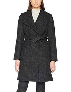 ESPRIT Collection Damen 107EO1G027 Mantel, Schwarz (Black 001), 38