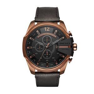 Diesel Herren Chronograph Quarz Uhr mit Leder Armband DZ4459