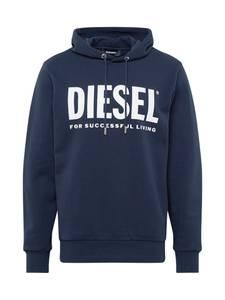 DIESEL Sweatshirt ''S-Gir Hood Division'' blau / weiß