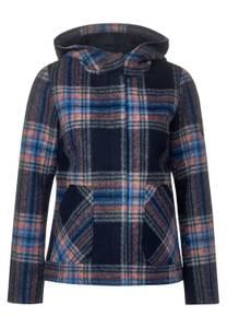 CECIL Damen Jacke mit Karomuster in Blau