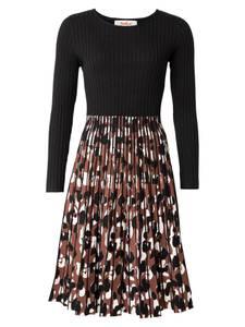 Derhy Kleid ''QUERCY'' braun / schwarz / weiß