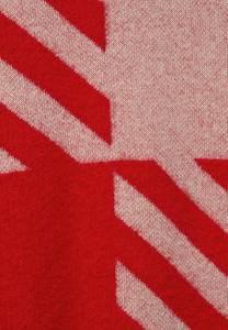 STREET ONE Cardigan rot / beigemeliert