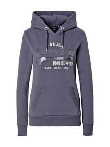 Superdry Sweatshirt dunkelgrau / weiß