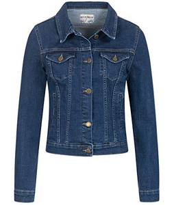 Rock Creek Damen Jeans Jacke Übergangs Jacke Denim Blouson Stretch Kurz Classic Jeansjacken Urban Stonewash D-401 Oxfordblue M