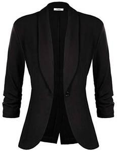 iClosam Damen Blazer Sommer 3/4 Ärmel Elegant Cardigan top.