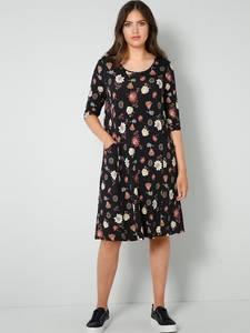 Jersey-Kleid schwarz/rot Janet & Joyce