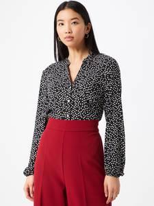 MORE & MORE Bluse schwarz / weiß