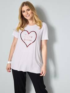 Shirt weiß/rot Sara Lindholm