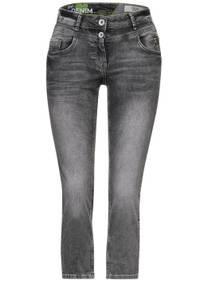 Slim fit spijkerbroek in 7/8-lengte - mid grey used wash