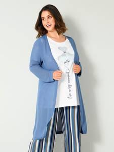 Strickmantel blau Sara Lindholm