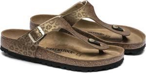 Birkenstock Gizeh Leopard Gold regular BF SMU - Maat 40