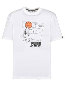 PUMA T-Shirt ''Peanuts'' weiß / schwarz / orange