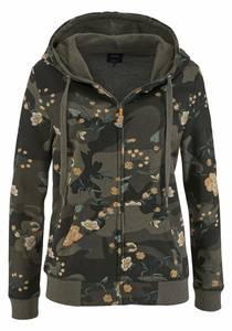 ONLY Sweater LIVA oliv / dunkelorange / schwarz
