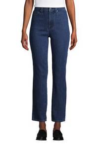 Knöchellange Straight Fit Öko Jeans High Waist