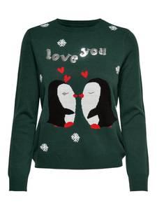 ONLY Pullover grün / rot / schwarz / weiß