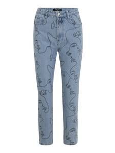 Missguided (Petite) Jeans hellblau / schwarz