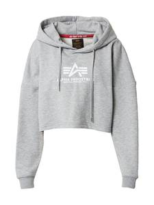 ALPHA INDUSTRIES Sweatshirt weiß / graumeliert