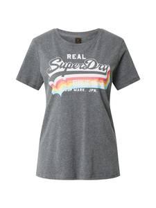 Superdry T-Shirt graumeliert / weiß / hellblau / pitaya