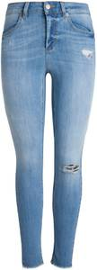 PIECES Skinny Jeans ''Pcfive Delly Cropped'' hellblau