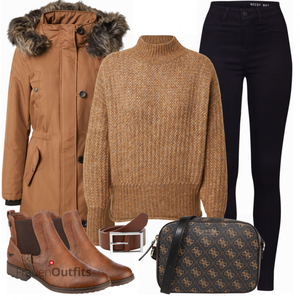 Herbst Outfit in warmen Farben FrauenOutfits.ch