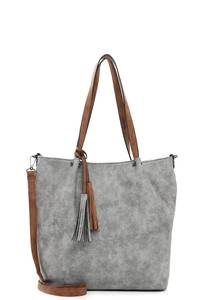 Emily & Noah Shopper ''Bag in Bag Surprise '' grau / cognac