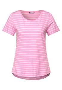 T-shirt met gestreept patroon - pearl rose
