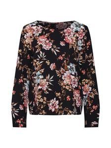 VERO MODA Shirt VMSASHA L/S TOP EXP mischfarben / schwarz