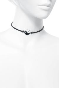 Blackheart Yin Yang Choker Halsband