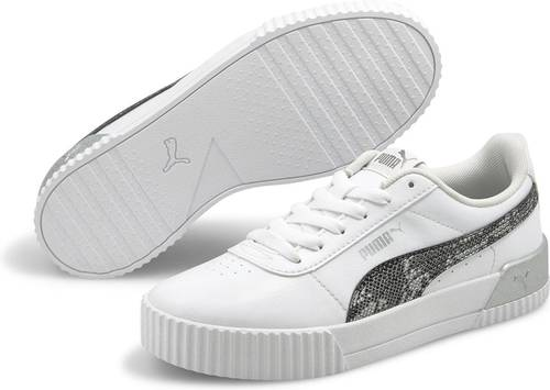 PUMA Carina Untamed Dames Sneakers - Puma White-Silver - Maat 38 - 0