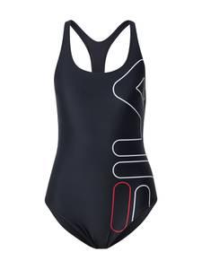 FILA Badeanzug ''YAISA'' schwarz / weiß / rot