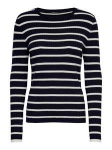 ONLY Pullover nachtblau / weiß