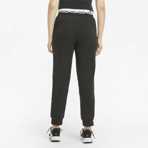PUMA Sporthose schwarz / weiß