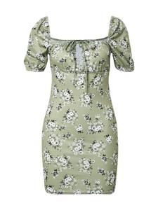 Missguided Kleid oliv / weiß / schwarz