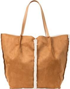 Shopper Lammfelloptik in braun für Damen von bonprix