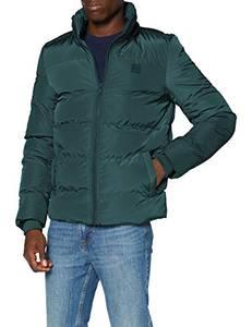 Urban Classics Herren Hooded Puffer Jacket Jacke, Bottlegreen, M