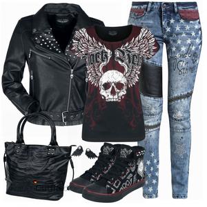 Rockiges  Outfit FrauenOutfits.de