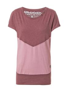 Alife and Kickin Shirt ''Cora'' dunkellila / altrosa