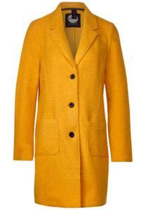 Mantel met reverskraag - golden yellow