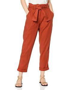 Amazon-Marke: find. Damen Paperbag-Hosen, Rot (rot Ocker 18-1442 Tcx)), 38, Label: M